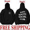 Unisex Hoodies AntiSocial Social Club Hoodie Anti Social Social Club Hooded Kanye Sweatshirts Men's Women's Sweatshirts Hot