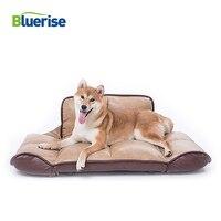 BR большой складной Роскошная Лежанка для собаки PU кушетка для собак водостойкий теплый спальный диван Дом для собаки Бесплатная вельветово