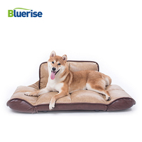 BR Large Foldable Luxury Dog Bed PU Dog Sofa Waterproof Warm Sleeping Sofa House For Dog Free Corduroy Cover Fashion Pet Dog Bed