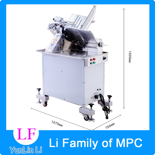 380V 230V 110V Commercial 14 Inch Automatic Electric Slicer Cut Freezer Machine Slice Of