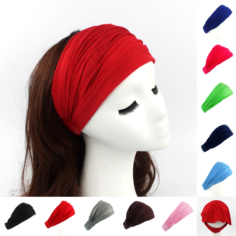 Ladies Cotton Hairband Head Band Headband Wrap Neck Head Scarf Cap 2 In 1 Bandana