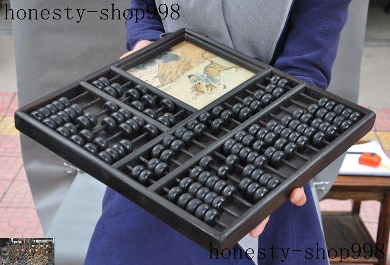 Noël vieux bois de rose chinois ancien outil de calcul arithmétique Abacus outil de comptage halloween