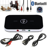 Wireless Bluetooth 4 1 Transmitter Receiver Stereo Audio 3 5mm Adapter For Phone MP3 TV Laptop