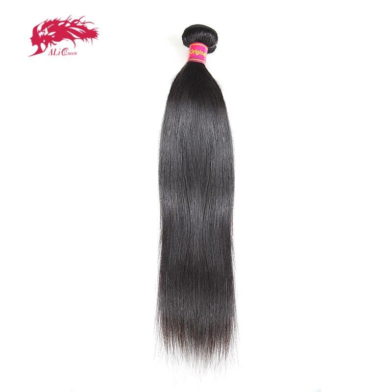 Ali queen hair бразильские виргинские волосы прямые пучки натуральный черный цвет 100% человеческих волос Плетение 8 дюймов до 38 дюймов Бесплатная ...