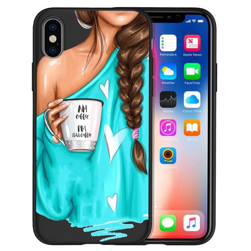 Модный Роскошный чехол для телефона на высоком каблуке с цветочным узором для девочек, чехол для iphone X XS Max XR 6 7 8 Plus 5S SE, мягкий чехол Etui - Цвет: 10