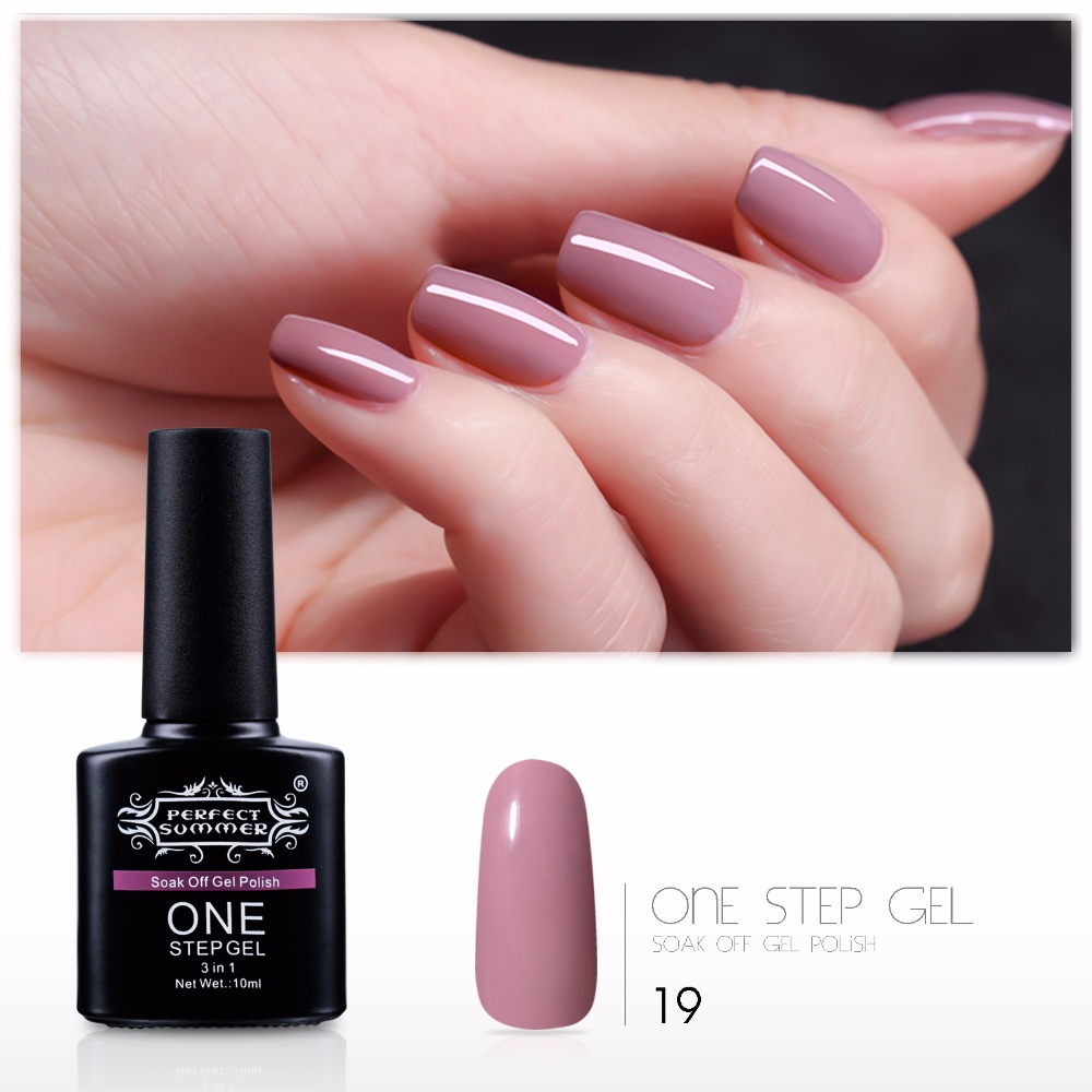 3 in 1 New Arrival One Step Gel Nail Polish LED UV Soak off Gel ...