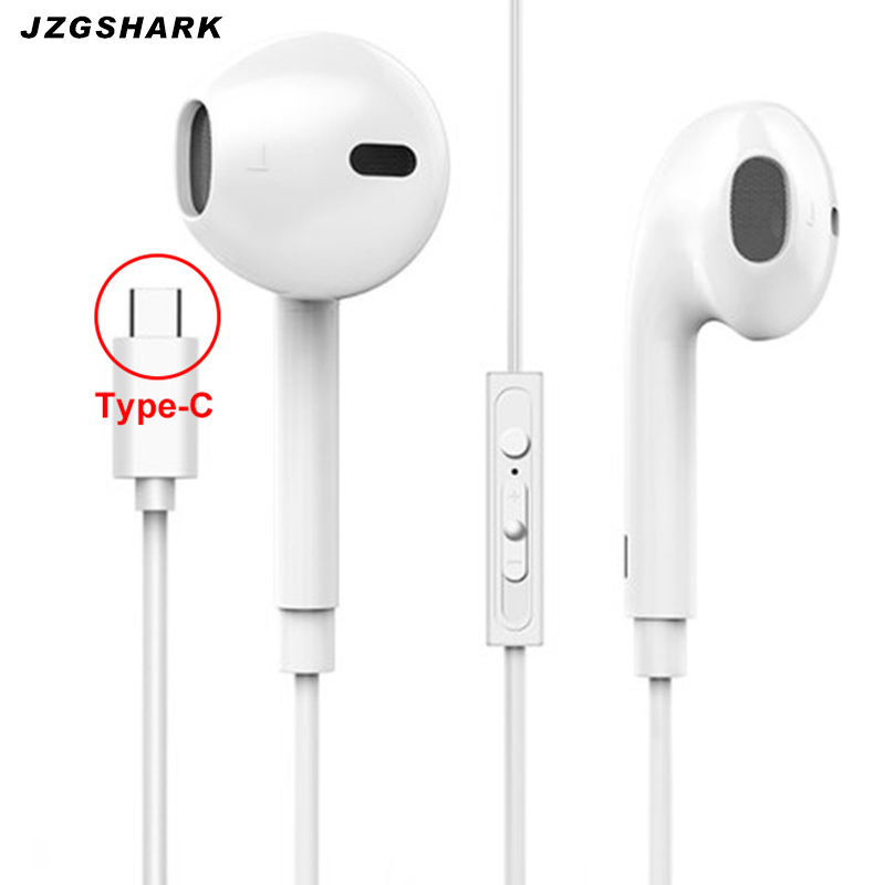 Type C Phone Earphone Wired Noise Cancelling In Ear Portable Earphones with Microphone for Mobile Phone Xiomi fone de ouvido new original xiaomi xiomi mi hybrid earphone 1more design in ear multi unit piston headset hifi for smart mobile phone fon de ouvido
