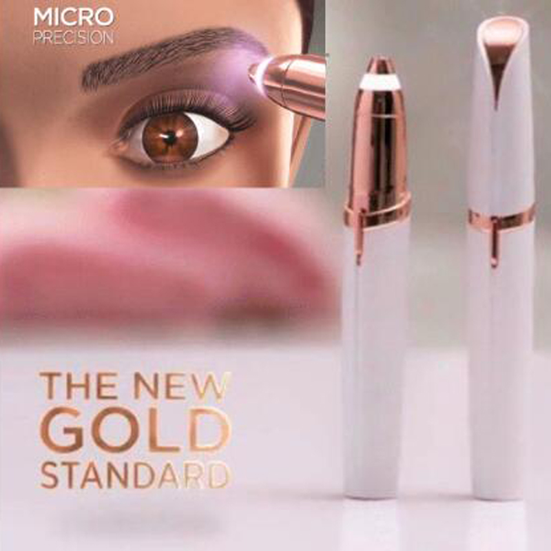 Removedor de pelo eléctrico de cejas con forma de lápiz labial Mini ceja afeitadora instantánea sin dolor epilador portátil Dropshipping
