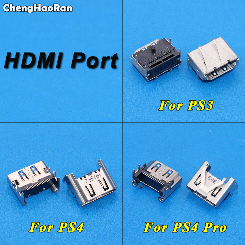 ChengHaoRan For Sony PS4 Pro&Slim HDMI Port Socket Jack Interface Connector Plug For PS3 Slim 3000 4000 CECH-3000ChengHaoRan For Sony PS4 Pro&Slim HDMI Port Socket Jack Interface Connector Plug For PS3 Slim 3000 4000 CECH-3000
