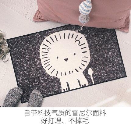 Tapis Style mignon siège de Lion rectangulaire tapis antidérapant décor à la maison