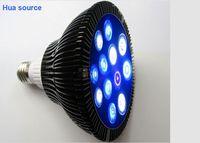 Customize colors E27 12w led bulb PAR38 12x3w Coral Reef Grow light High Power Fish Tank Aquarium Lamp free shipping