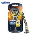 Новое Поступление Gillette Fusion Proshield Flexball Бритва 1 Держатель Бритвы 1 лезвия Для Мужчин Facecare Мужчины Бритья Бритва