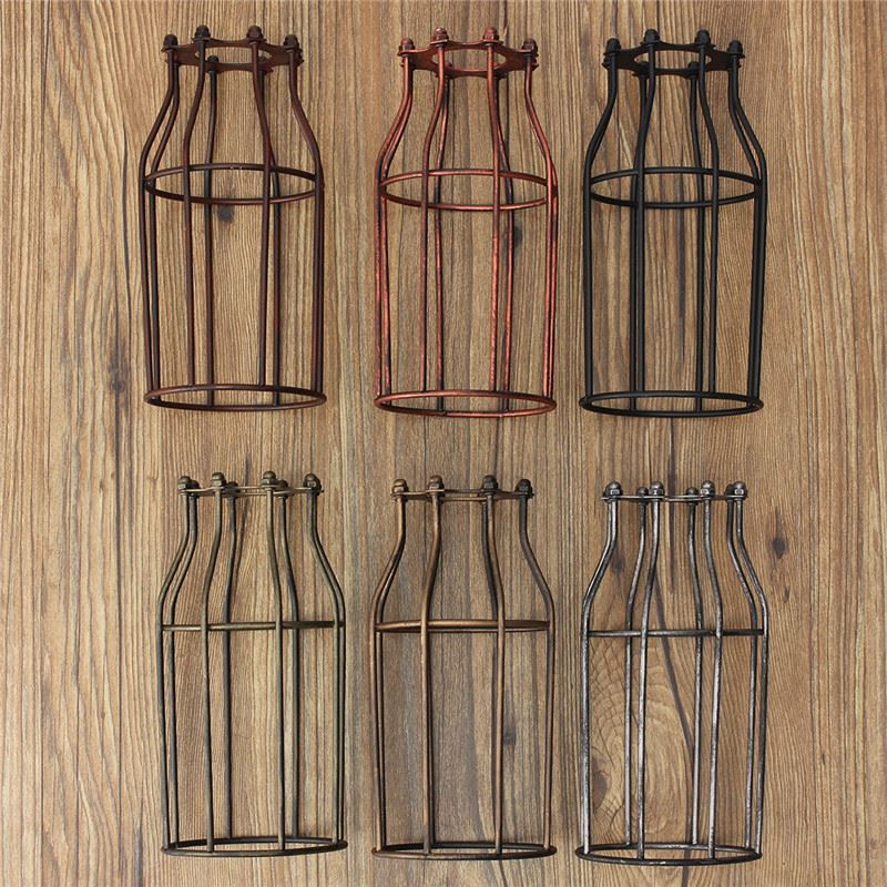 Hot Sale Lamp Cover Retro Vintage Pendant Chandelier Light Bulb Guard Wire Cage Industrial
