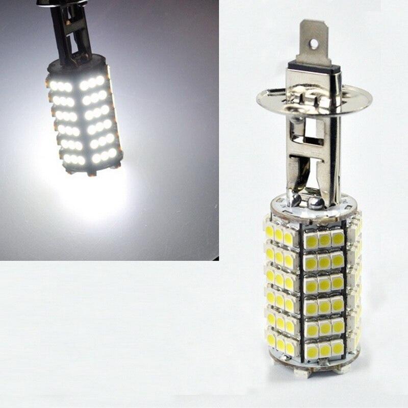 12V H1 120 SMD LED Fog Beam Driving Head Light Lamp Bulb Cool White For Automobile