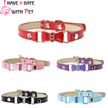 Pet Product Cat Dog Collar Personalized With Rhinestone Lovely Bowknot Puppy Chihuahua Collars Kitten Necklace Supplies