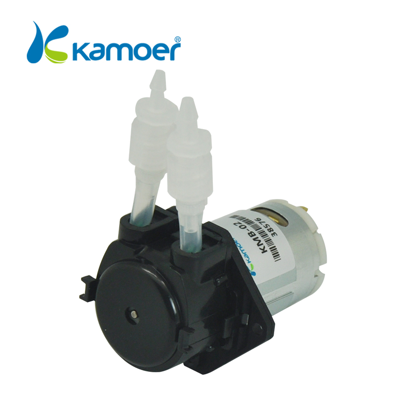 Kamoer KMB Mini gear oil fuel pump oil ink peristaltic pump Water pump 24V Micro electric dosing pump with high precision (L) kamoer lab uip peristaltic pump high precision and intelligent water pump