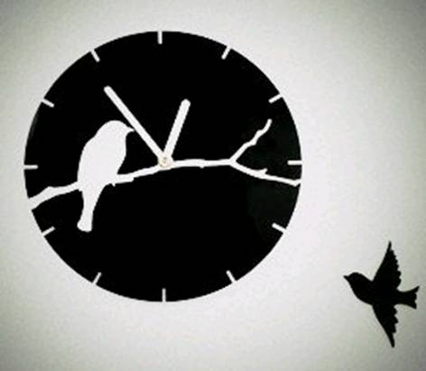 Wall Clock Quartz Living Room Diy Clocks Birds 3d Acrylic Crystal Wall Clock Black White Quartz