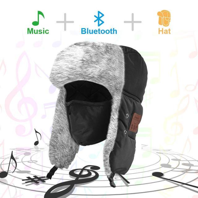 764c6c4b97f9d Bluetooth Headphone Winter hat with Control Panel