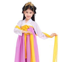 High quality New Korean Traditional Dress Long Section Girl Korean Hanbok National Costume Blouse Tops and