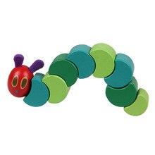 木製ブロックキッズ柔軟なブロックモンテッソーリ非常に空腹毛虫のおもちゃ子供のためのG0388