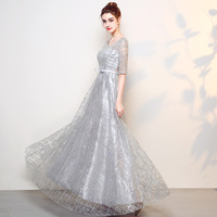 High Quality Women Slim Dress O Neck Sexy Celebrity Evening Party Dresses Gowns Elegant Business Gown Bridesmaid Wedding Qipao