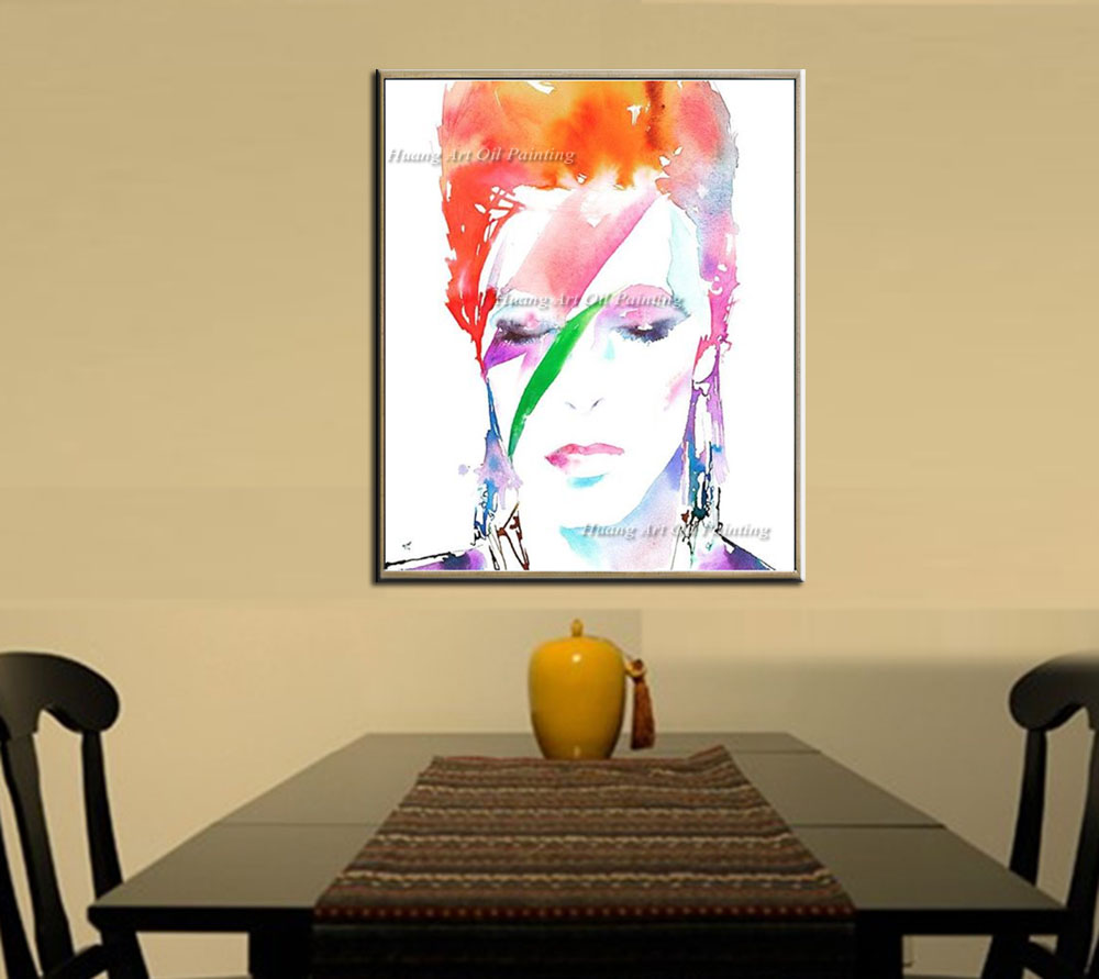 Aliexpress.com : Buy Hand Painted Modern David Bowie Face Oil ...