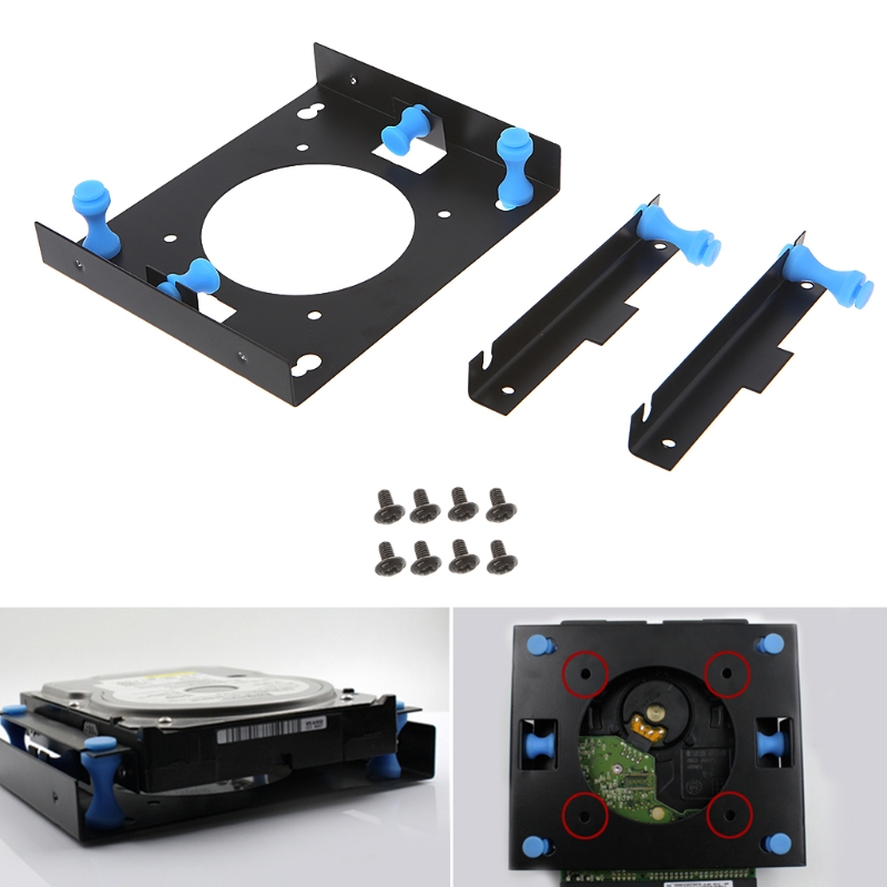 3.5 to 5.25 Bay Hard Disk Drive Shock Absorption Bracket Converter Mounting Kit-PC Friend цена