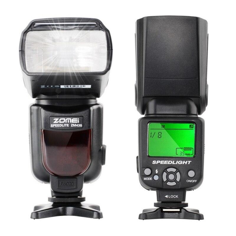 Zm430 Hot Shoe Mount Flash Light Speedlite Hss 1/200s Destello For Cacon/Nicon Dslr Cameras
