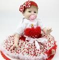 22 Дюймов 55 см Мягкие Силиконовые Возрождается Куклы Младенца Ручной Ребенок Новорожденный Прекрасные Дети Девушки Дети День Рождения Рождественский Подарок