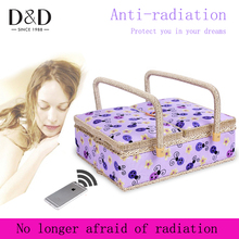 5 Color New Fashion Rattan wood Anti-radiation Storage basket Home Sewing Tools Fabric Handmade Sewing Basket