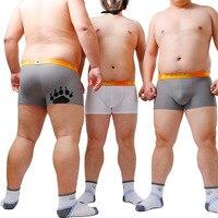 2018 New Arrival Bear Claw Paw Print Underwear Plus Size Men's Sexy Net Boxers Gay Proud Shorts For Bear White & Gray M L XL XXL