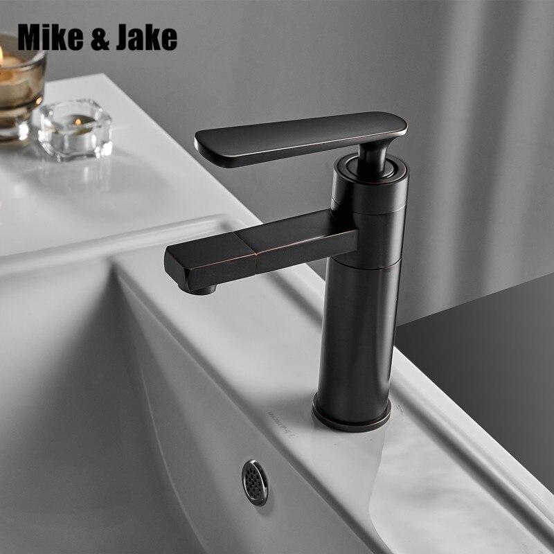 Черный смеситель для ванной комнаты, черный кран для ванной, смеситель для горячей и холодной воды, белый хромированный латунный кран для во...