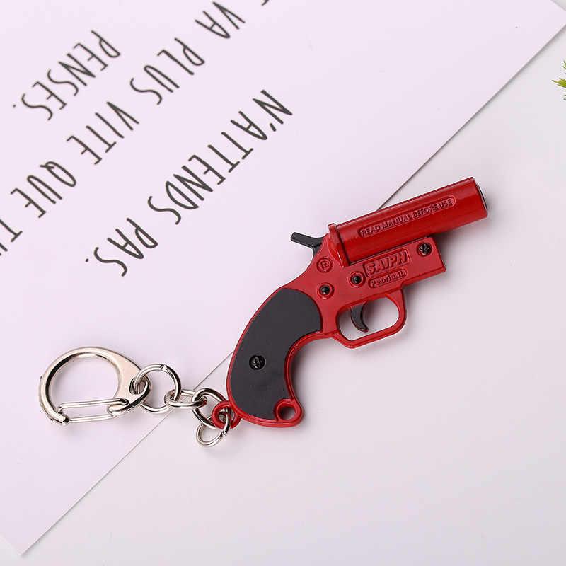 Estilos de jogo 32 PUBG AK47 98K Atirador Arma Rifle Arma Chaveiros Presentes Lembranças De Metal do Anel Chave de Cadeia para Homens keychain llaveros