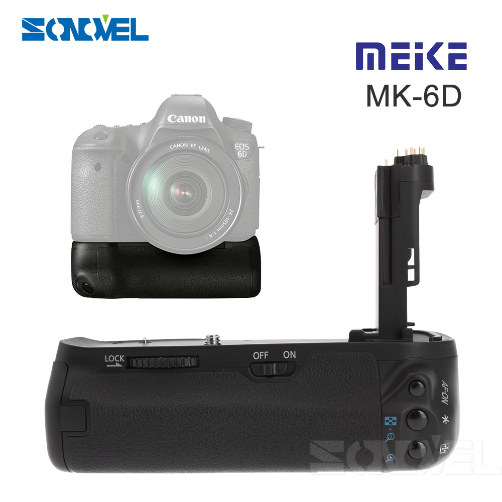 Meike MK-6D Multi-Power Pack Camera Battery Grip BG-E13 Replacement Vertical Battery Grip For Canon EOS 6D