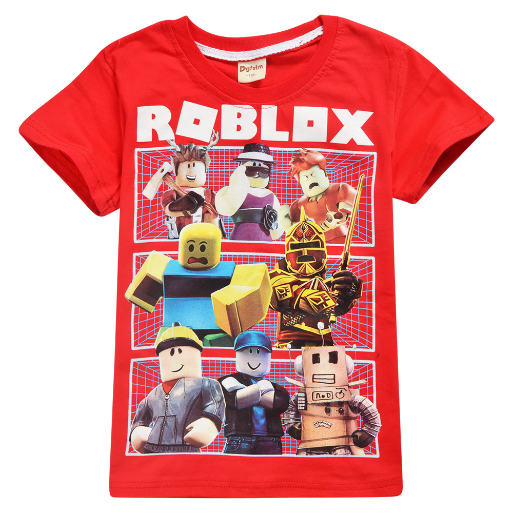 Details About 2019 Roblox Boys Girls Short Sleeve T Shirts Pure Cotton Tops Cartoon Clothes Uk 2019 Roblox Boys T Shirt Cartoon Red Nose Day Stardust Game Childr
