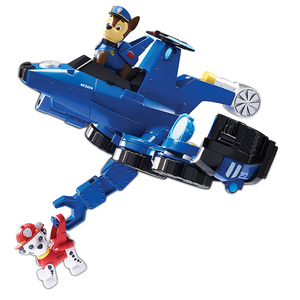 Image 4 - 2019 Paw Patrol Toys aircraft car Two in one Deformation series Sound and light music Action Figures Toys for Children Gifts