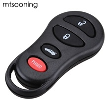 mtsooning Remote Car Key Shell Fob Case 3+1 Panic 4 Buttons Replacement For Chrysler Sebring Jeep Liberty Dodge Neon Intrepid