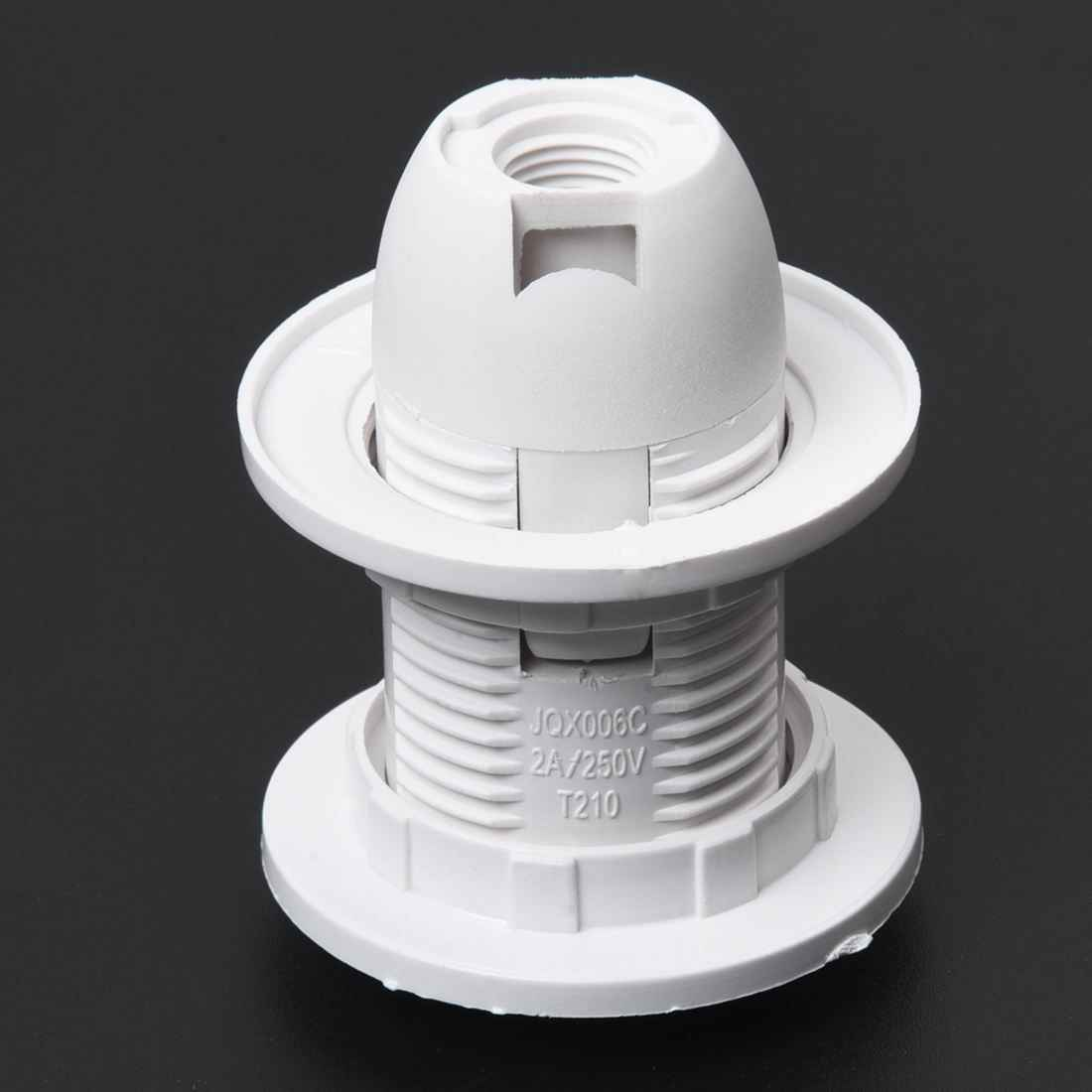 Прямая доставка! Пластик винты корпуса Тип E14 лампа держатель розетки переменного тока 250 V 2A подвесной разъем кольцо абажура 5,8x4,3 см
