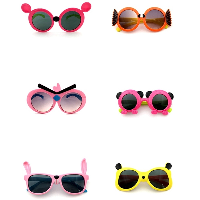 1 pc Outdoor Sun Glasses 2018 Cartoon Fox Sunglasses Children Travel Candy Color Goggles Oculos De Sol