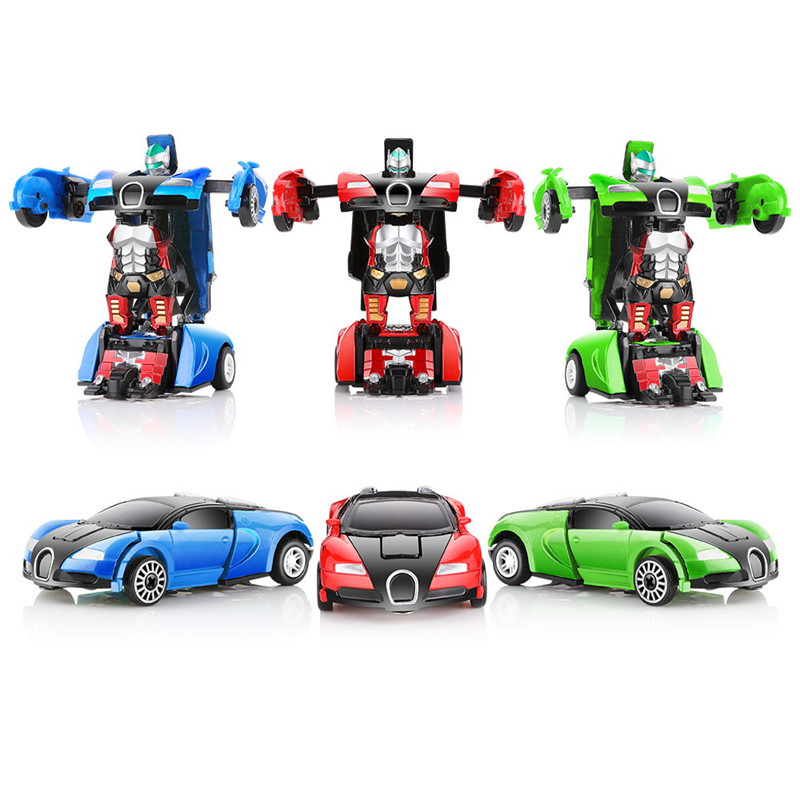 2 in 1 Mini Toys Car Pull Back Car Alloy& ABS Diecast Transformable Robots Models Collectible Diecasts Toys for Children 2 in 1 transformable assembly building blocks car for children puzzling toys