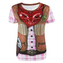 Women Cowgirl Flower Power Clown Pirate Mariachi Costume 3D T-Shirts