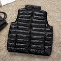 5XL 6XL Oversize Women Ultra Light Down Vest Duck Down Plus Size Sleeveless With A Carry Bag chalecos mujer