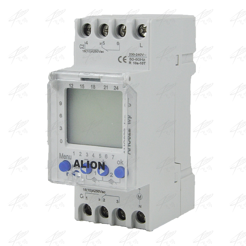 2 channel 220V 240V AC Programmable digital time switch Time relay din rail 7 days weekly 50/60Hz AHC812 multilingual AHC822