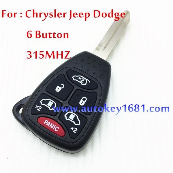 Remote control key for chrysler Town Country dodge Grand Caravan jeep 5 1 button key 315mhz