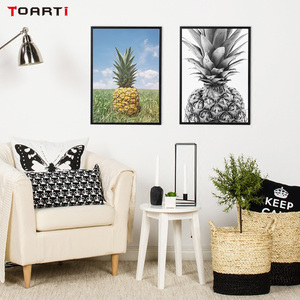 Image 5 - Pineapple Wall Art Canvas Posters Prints Nordic Love Letters Canvas Painting On The Wall Black White Art Pictures For Home Decor