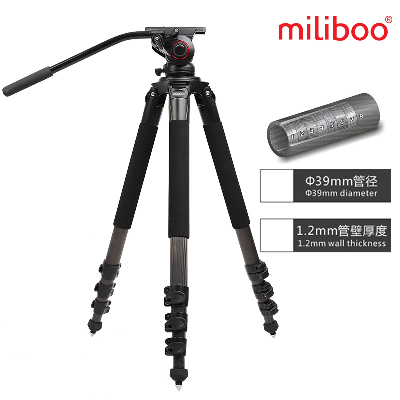 Miliboo IronTower 25KG bear MTT702B Carbon Fiber video professional camera Tripod stand MYT803 Fluid head half price manfrotto