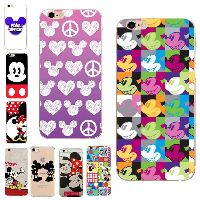 Leuke Cartoon telefoon Geval voor iphone 7 8 7 plus 8 plus Case Zachte Minnie Mickey Mouse Coque Voor iphone 6 6s 5 5s se iphone X Funda