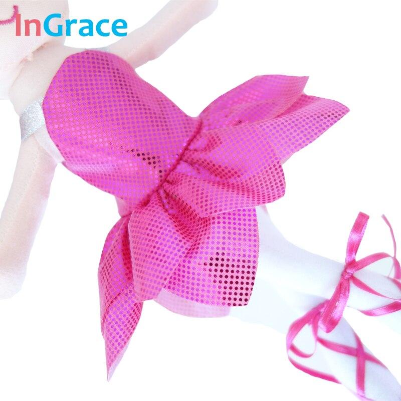 InGrace yeni gəlişi parıldayan balerina kuklaları 3 rəngli super - Kuklalar və kuklalar üçün aksesuarlar - Fotoqrafiya 4