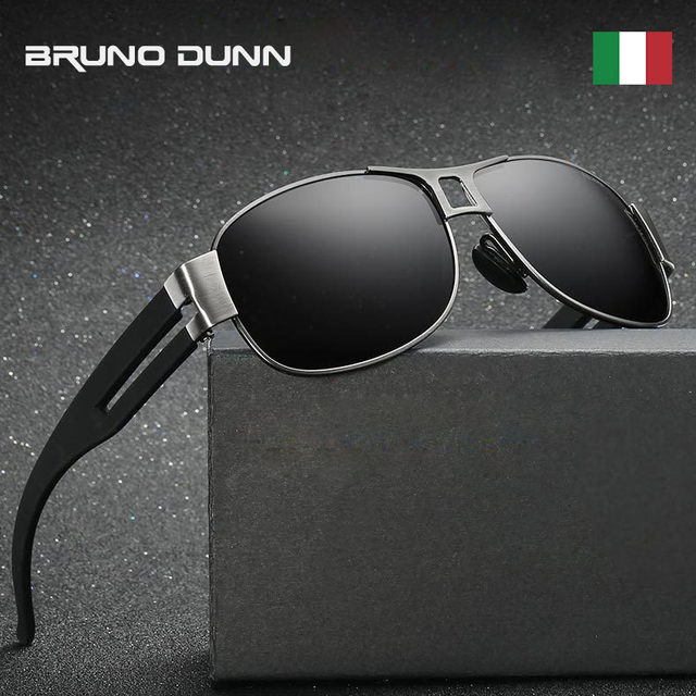 c36968c01d Bruno Dunn Brand Retro Aluminum+TR90 Sunglasses Polarized Men Vintage Sun  Glasses For male driving