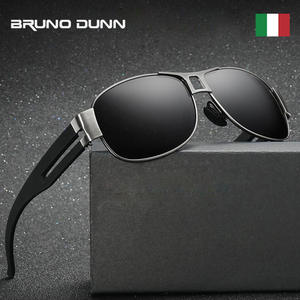 64b1a2e2b561 bruno dunn Sunglasses Polarized Men Vintage Sun Glasses For